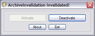 ArchiveInvalidation Invalidated