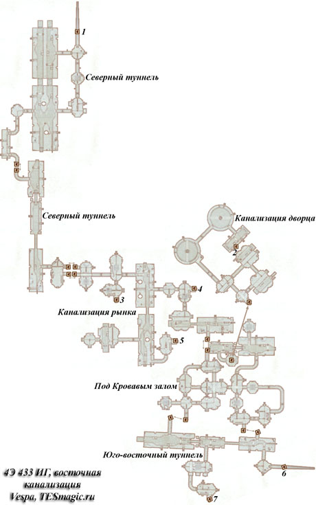 Схема восточной канализации